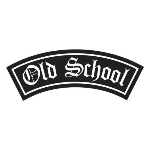 Aufkleber Wetterfest Old School Patch Biker Label Brotherhood MC Rocker Club