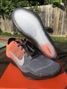 New DS Nike 9.5 Zoom Kobe XI 11 Elite Orange Grey Easter Flyknit Air ... bcd331a7f334