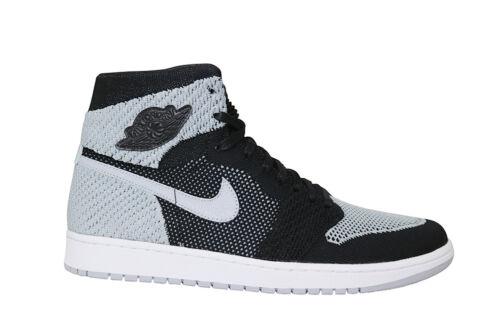 919704003 Nike Flyknit Retro Negro Hi Lobo Air Gris Blanco Jordan 1 Hombre x1Fd4wR0qR