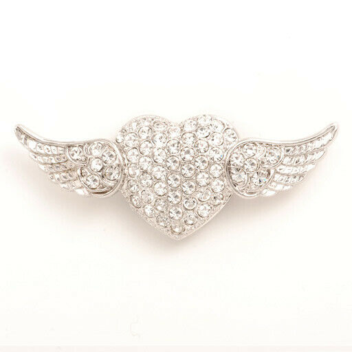 Popits Flying Heart Silver Charms