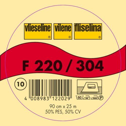 1m Vlieseline Freudenberg Bügeleinlage F220 grafit schwarz  90cm breit