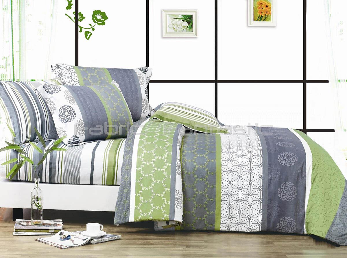 DEXTER Sheet Set Double Queen King Größe Bed Flat&Fitted&Pillowcases Cotton New