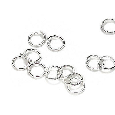 250 binderinge 5mm ojales plata anillo metálico conector spaltringe Best sf21