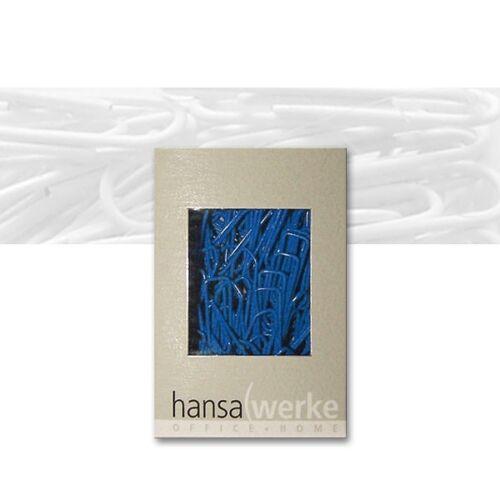 Büroklammern kunststoffüberzogen blau index Hansawerke 100 Stk 1,35€//100 Stück