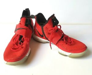 b73671e5b84f NIKE AIR MENS LEBRON JAMES XIV 14 UNIVERSITY RED BRICK ROAD 852405 ...