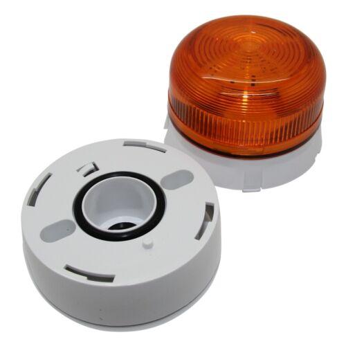 Flashguard 230VAC KLAXON SI QBS-0023 Signalgeber Licht Dauerlicht orange Serie
