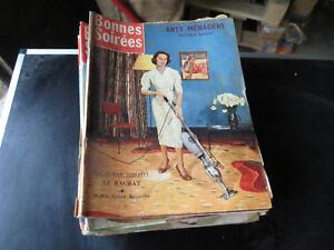 25-MAGAZINES-BONNES-SOIREES-ancien-annee-1950-et-1960-vintage-mode-decoration