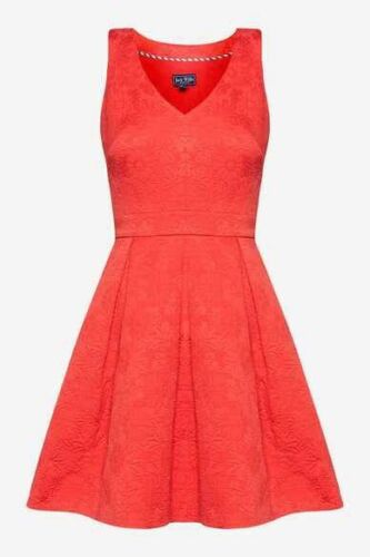 Size Skater Bnwt Rosso 6 Norbudy Guest Coral New Wills Dress Summer Jack Wedding X0wPndgq
