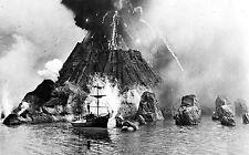 Framed Print - 1883 Picture of the Krakatoa Volcano Eruption (Picture Replica)