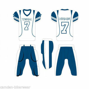 b515645884a Image is loading American-Football-Uniforms-Custom-Sublimation-11-Set-Jersey -