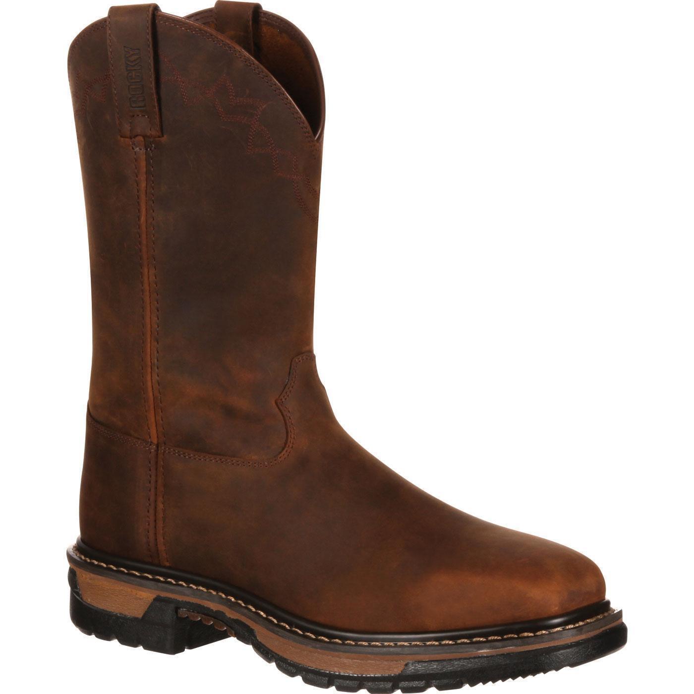 Rocky RKW0131 Dedo Del Pie Cuadrado Cuero Original Ride 11  Tire de botas de vaquero occidental