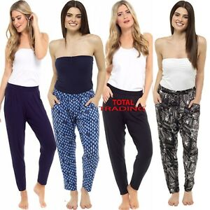 LADIES-Women-summer-Jersey-Harem-Trousers-Boho-Ali-Baba-Baggy-Leggings-Pants