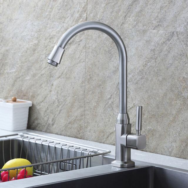 360° Küchenarmatur Nur für Kaltwasser Spültischarmatur Wasserhahn Einhandmischer