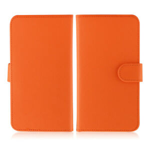 Etui-portefeuille-universel-en-cuir-orange-pour-smartphone-Appl-iPhone-8-8Plus