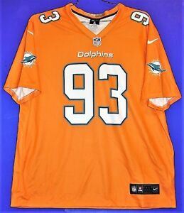 on sale 99ccd d46b9 Details about MIAMI DOLPHINS NDAMUKONG SUH #93 COLOR RUSH ORANGE NFL Nike  Size 2XL JERSEY