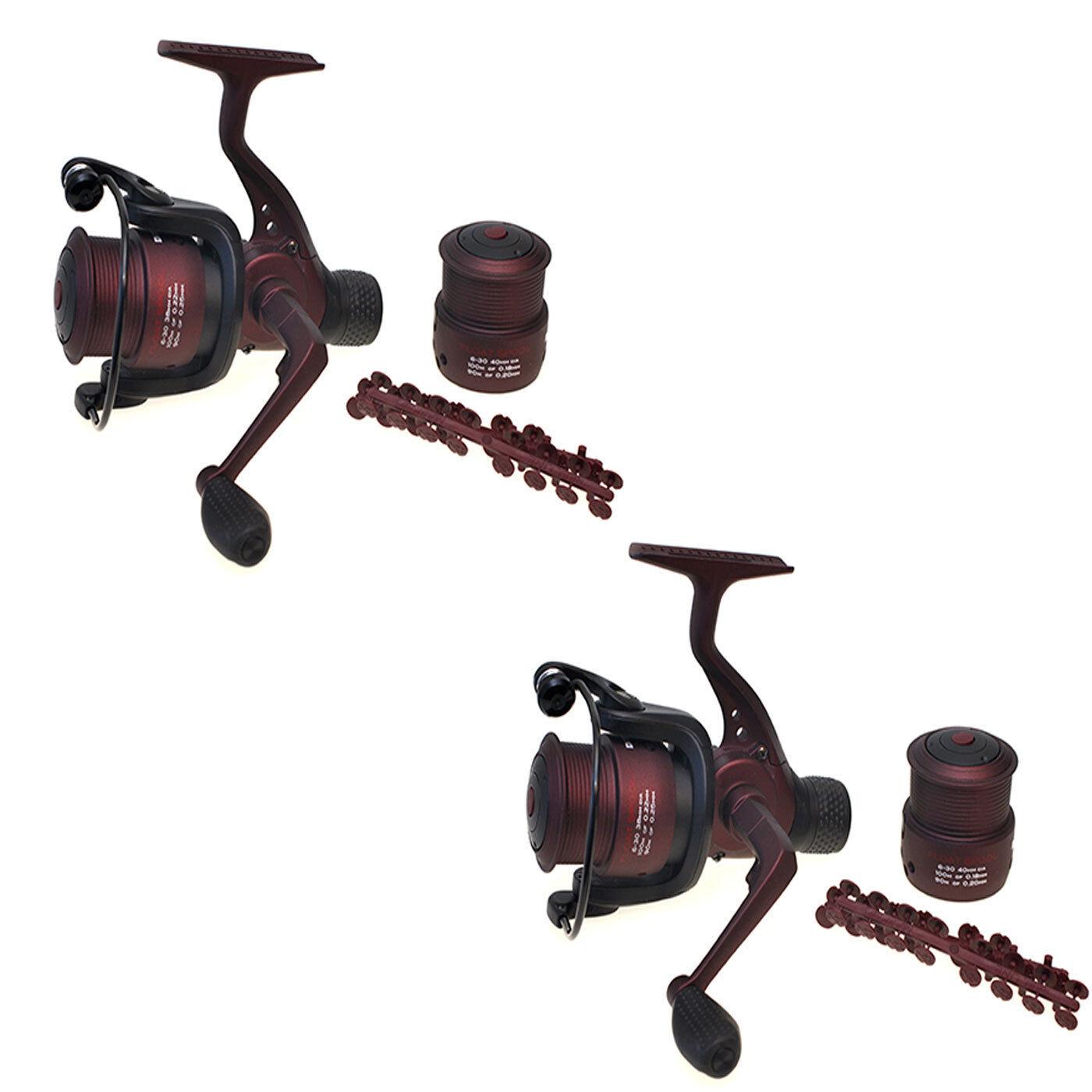 Drennan rouge Gamme 6-30 Float fishing reel x 2 (Paire)  Brand New  Livraison Gratuite