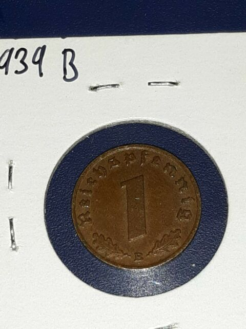 Rare WWII Antique Germany 1937-1940 3rd Reich SS Nazi Eagle 2 pfenning Coin