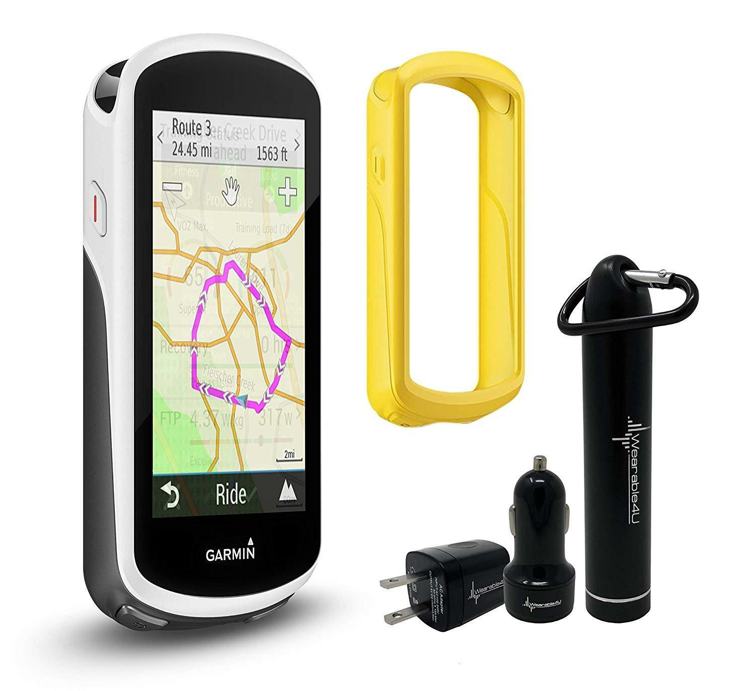 Garmin Edge 1030 GPS Cycling Computer w  Case Wearable4U Bundle 010-01758-00