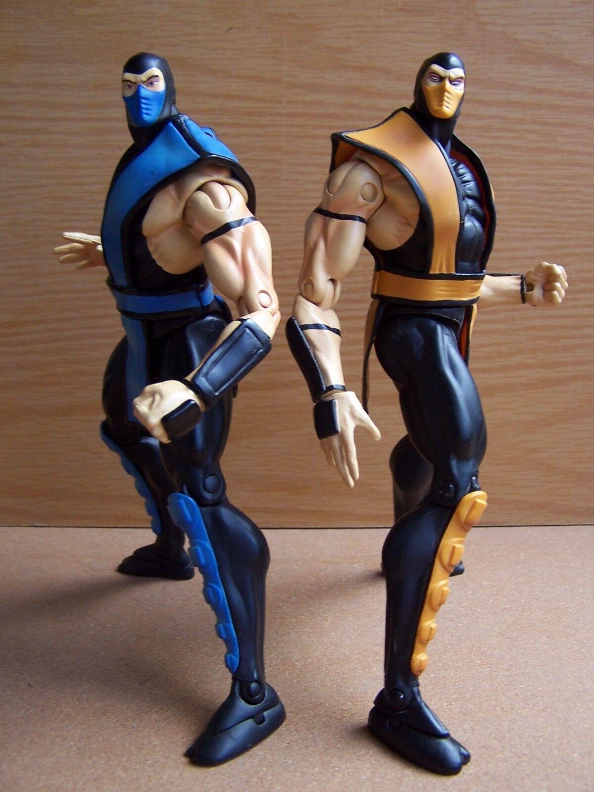 Mortal Kombat SUB ZERO & SCORPION Infinite Concepts 2000 Loose SUPER RARE