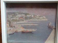 Superbe tableau de Maud Gérard (1915-2013) Le port de Nice 1947