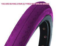 Pair Purple 700x23c Dsi Tyres Racing Road Bike Sports Racer Semi-slick Sri-89