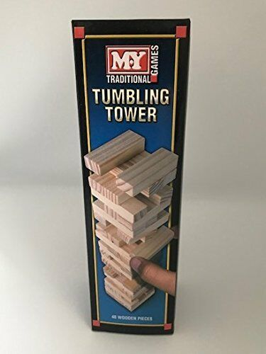 MY Traditional Games 48 Wooden piece Tumbling Tower