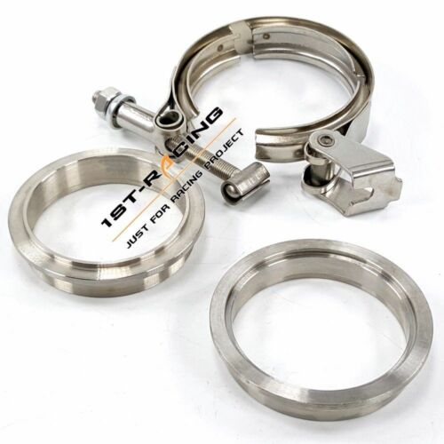 """3.0"""" inch 76mm Exhaust Quickly Release Self Aligning VBand Clamp Flange SS304"""