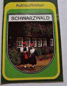 Souvenir-Aufkleber Black Forest Costume Girl Feldberg Baden-Württemberg 80er