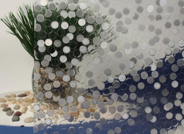 Bubbles Cut Glass Static Cling Window Film, 36  Wide x 50 ft