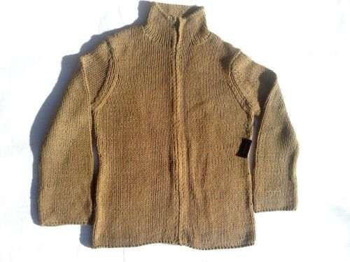 Brown Front Sweater Large Nwt Zipper Limited Handknit The Size xwTqf4EC
