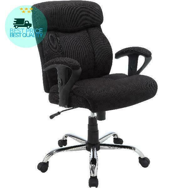 Serta Big & Tall Fabric Manager Office Chair, Supports up to 300 lbs, Black