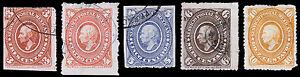 Mexico Scott 167-171 (1885) Used/Mint H F-VF, CV $62.00