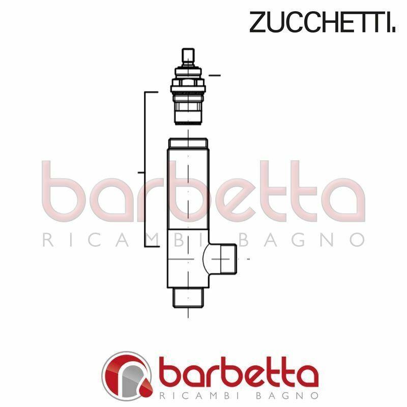 PIANTANA COMPLETA DI VITONE LAVANDINO BIDET ISY ZUCCHETTI R98761