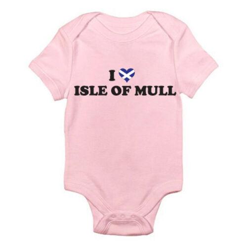Gran Bretaña divertida temática Baby grow//suit escocés Me encanta Isle Of Mull-Escocia