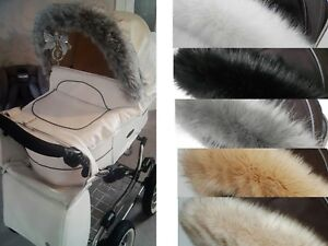 Silver-Cross-wayfarer-pioneer-surf-pop-reflex-pushchair-pram-fur-trim-hood