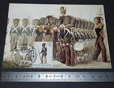CARTE POSTALE 1er JOUR PHILATELIE 1983 GRENADIERS ARMEE BELGE 1854 BELGIQUE