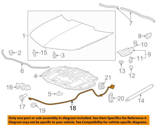 Chevrolet GM OEM 10-15 Camaro Hood-Latch Lock Release Cable 20959350