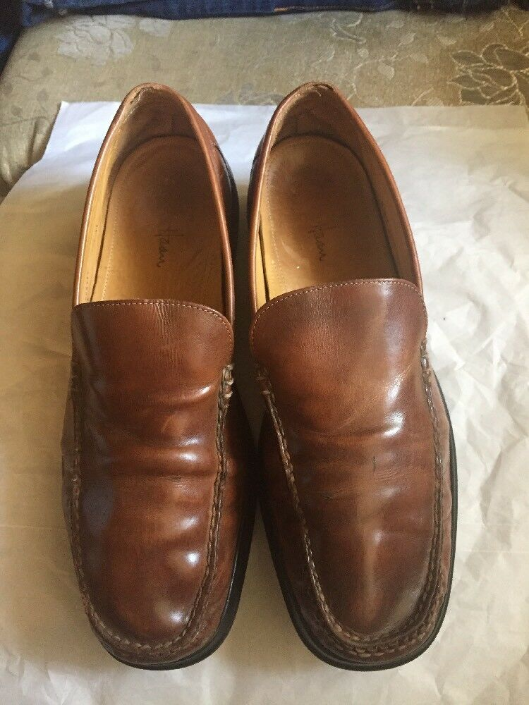 Mens Cole Haan Caramel Brown Slip M On Dress Shoe 10.5 M Slip 994666