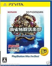 Used PS Vita Mahjong Fight Club Shinsei Zenkoku SONY PLAYSTATION JAPANESE IMPORT