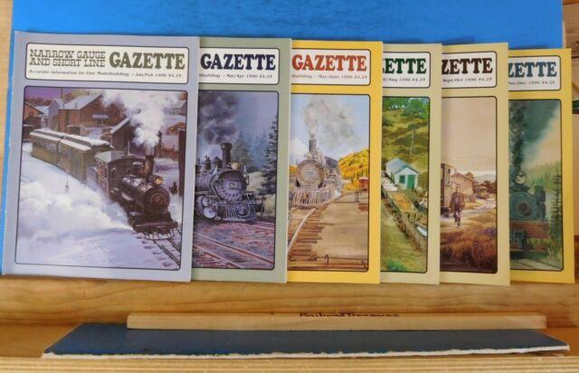 Narrow Gauge & Short Line Gazette Complete Year 1996 6