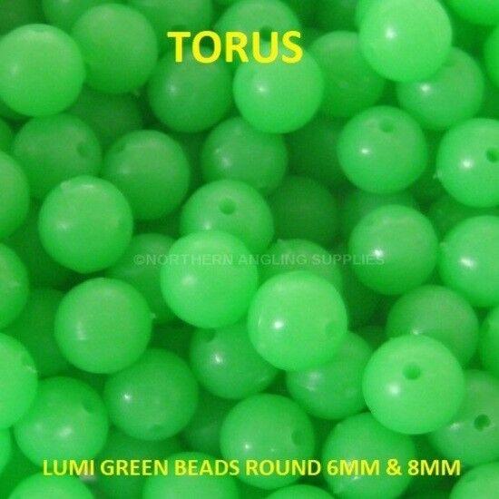 TORUS LUMI Round Luminous Grün Beads Sea Fishing Rigs 6mm