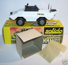 SOLIDO MILITAIRE MILITARY TANK CHAR XM 706 COMMANDO AMPHIBIE POLICE REF 224bis i