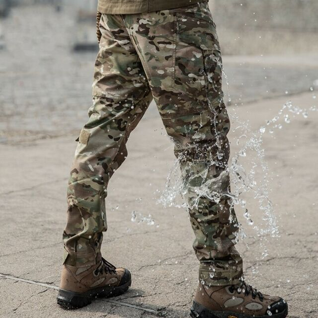 Mens Camo Tactical Combat Cargo Pants Camouflage BDU Military Casual Trousers
