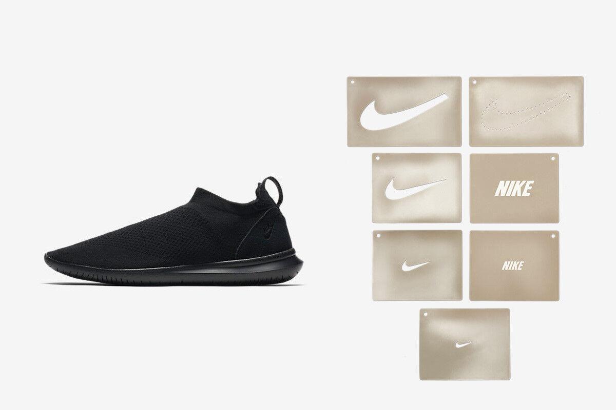 Nike MEN'S Gakou Flyknit CUSTOMIZABLE Black SIZE 8 BRAND NEW RARE STENCIL