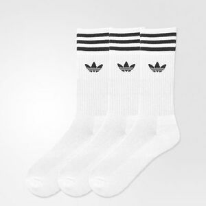 muestra celebrar malicioso  Adidas Originals Retro Sports Socks Brand New White or Black   eBay