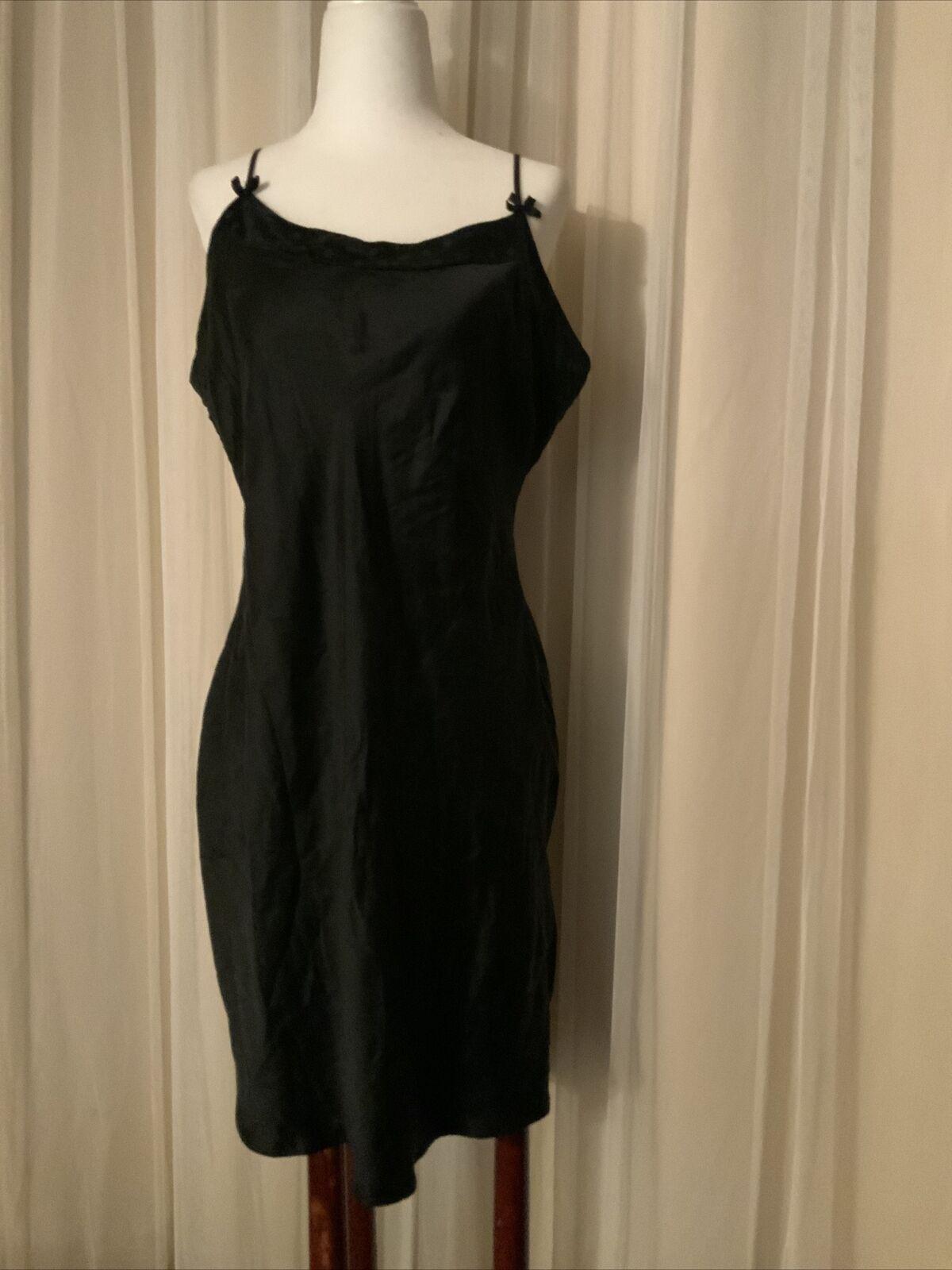 August Silk black  Babydoll Chemise Adjustable St… - image 1