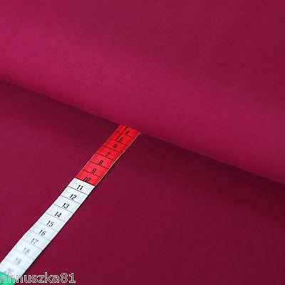 Jersey Stoff Uni BORDEAUX Baumwolljersey Einfarbig Kombistoff T-Shirt Stoff
