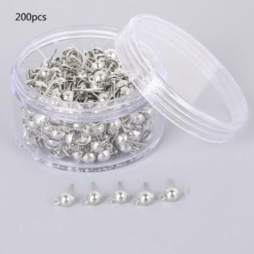Pierced Earring Hook Jump Ring Pins Jewelry Making Earring Findings Supplies Art