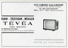 """""""TEVEA"""" Annonce originale entoilée années 50 21x16cm"""