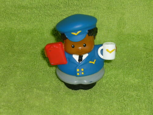 Fisher Price Little People African American Airplane Pilot Michael Coffee